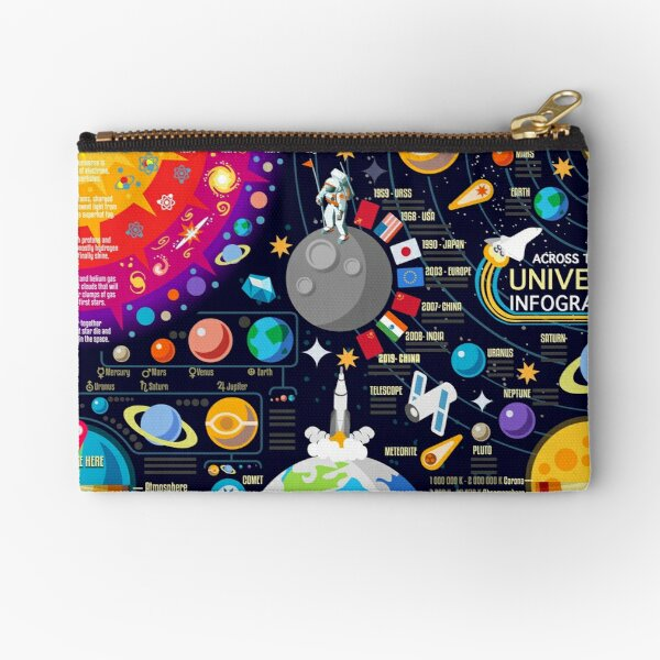 Space Universe Infographics Big Bang Zipper Pouch