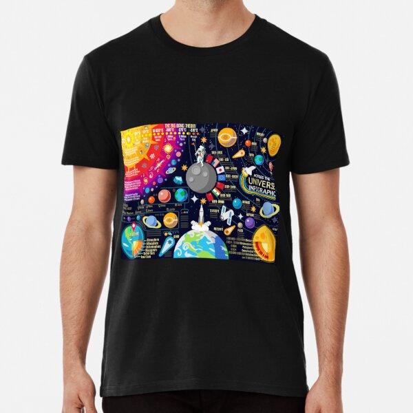 Space Universe Infographics Big Bang Premium T-Shirt