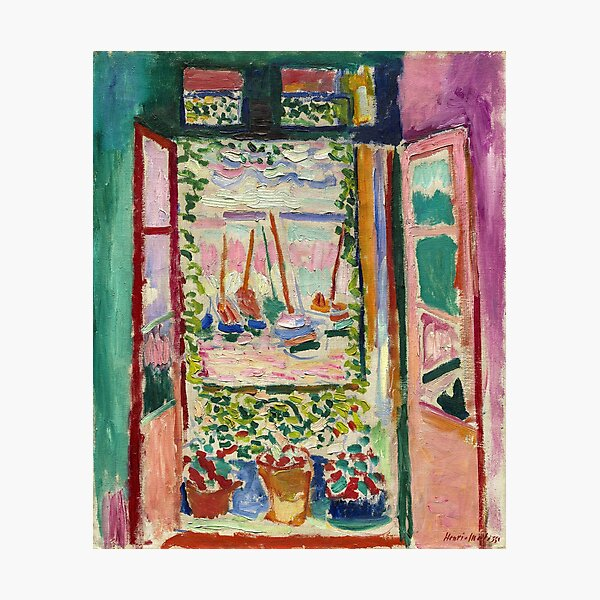 The Open Window by Matisse Photographic Print