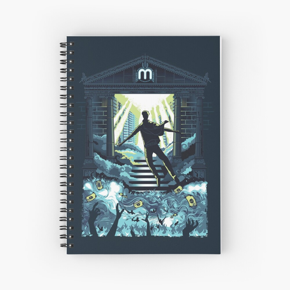 Crypto Mining Haven Spiral Notebook