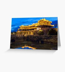 Imperial Royal Palace of Nguyen dynasty in Hue, Vietnam Greeting Card