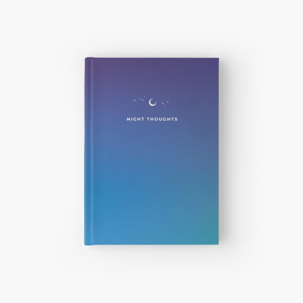 Night Thoughts Minimalist Dreamy Gradient Hardcover Journal