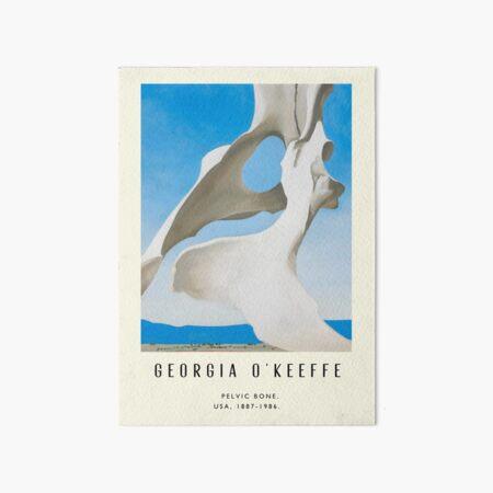 Poster-Georgia O'Keeffe-Pelvic bone. Art Board Print