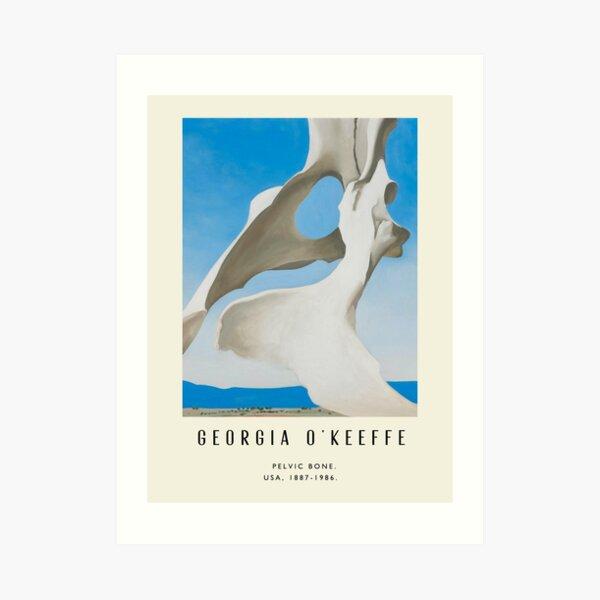 Poster-Georgia O'Keeffe-Pelvic bone. Art Print