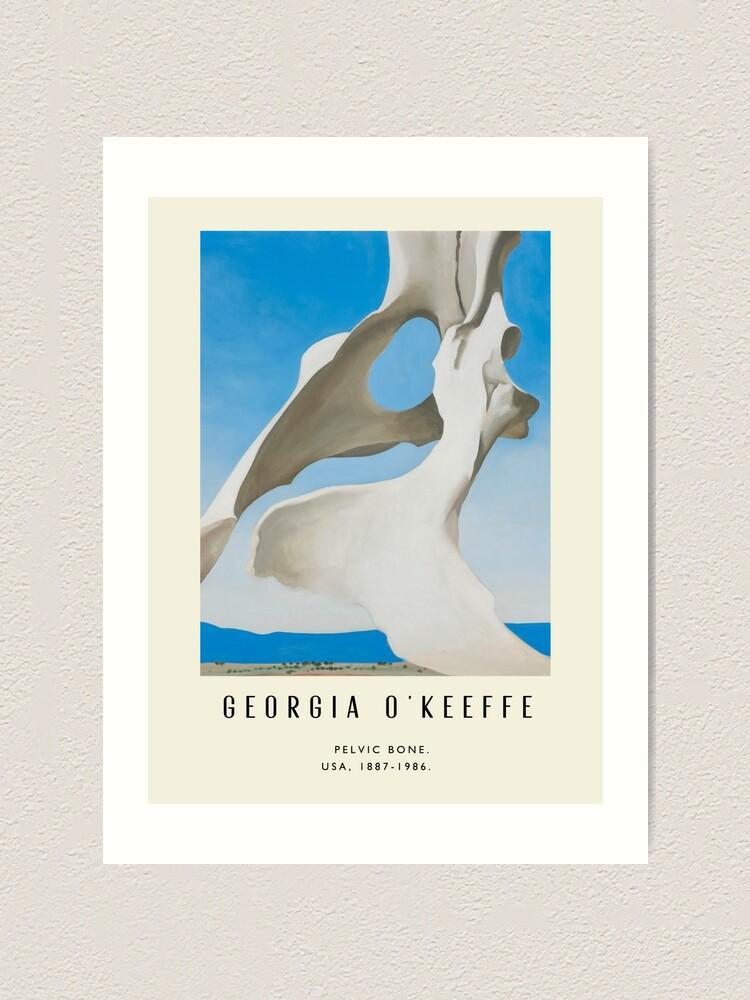 Alternate view of Poster-Georgia O'Keeffe-Pelvic bone. Art Print