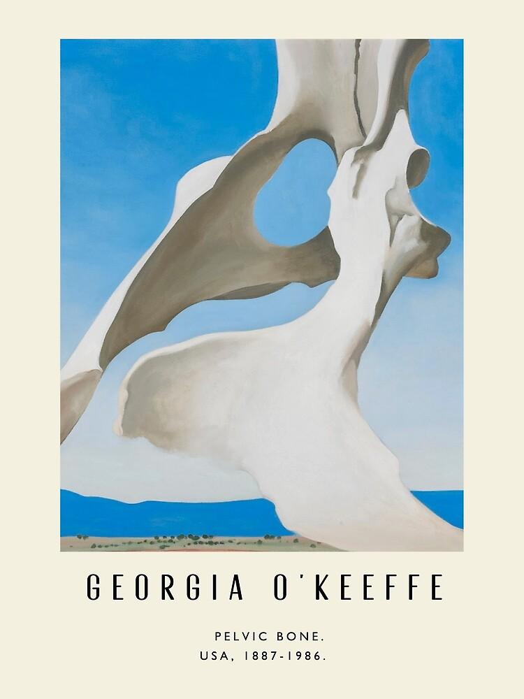 Poster-Georgia O'Keeffe-Pelvic bone. by WhiteSheet
