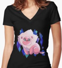 SU - Starry Eyed Lion  Women's Fitted V-Neck T-Shirt