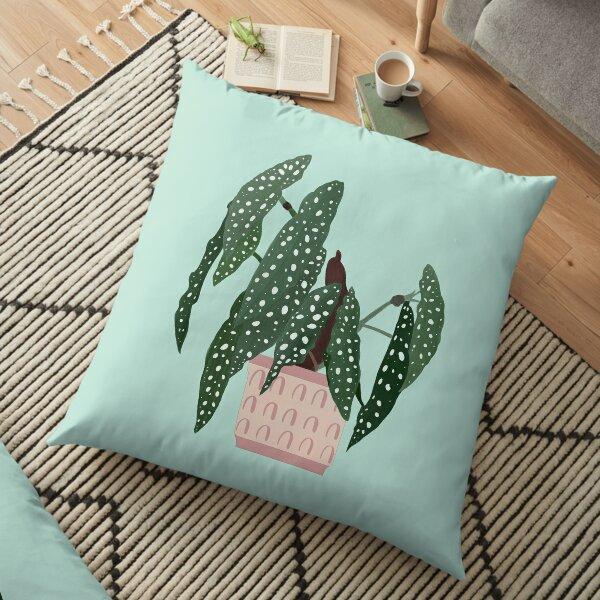 Begonia maculata - polka dot plant Floor Pillow
