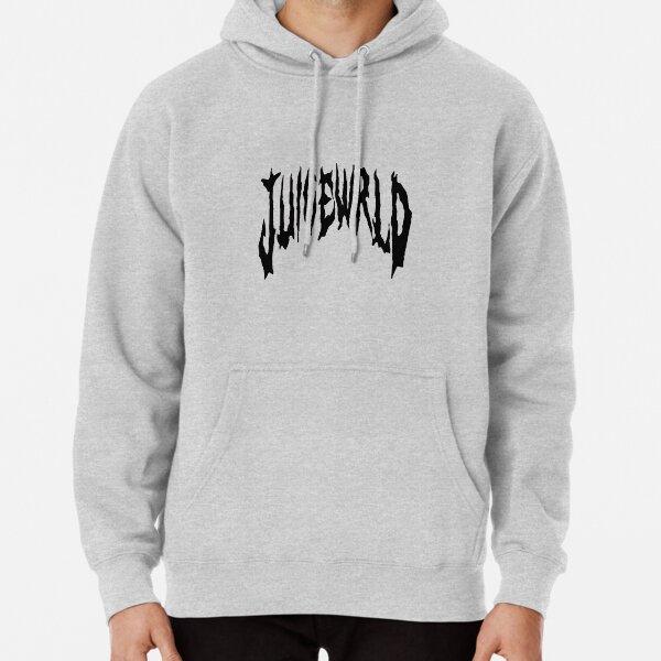 Juice WRLD cool calligraphy original design white background in black Pullover Hoodie