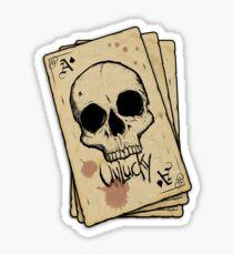 Unlucky Ace Of Spades Skull Card Sticker