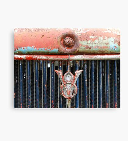 Distressed V8 Canvas Print