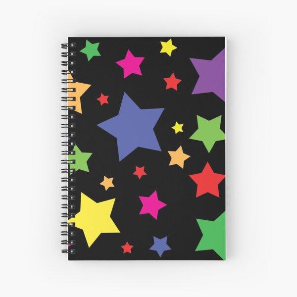 Bright Rainbow Stars Spiral Notebook