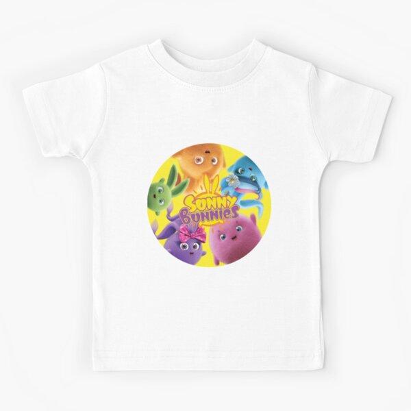 Sunny Bunnies - Bunnies and Logo Kids T-Shirt