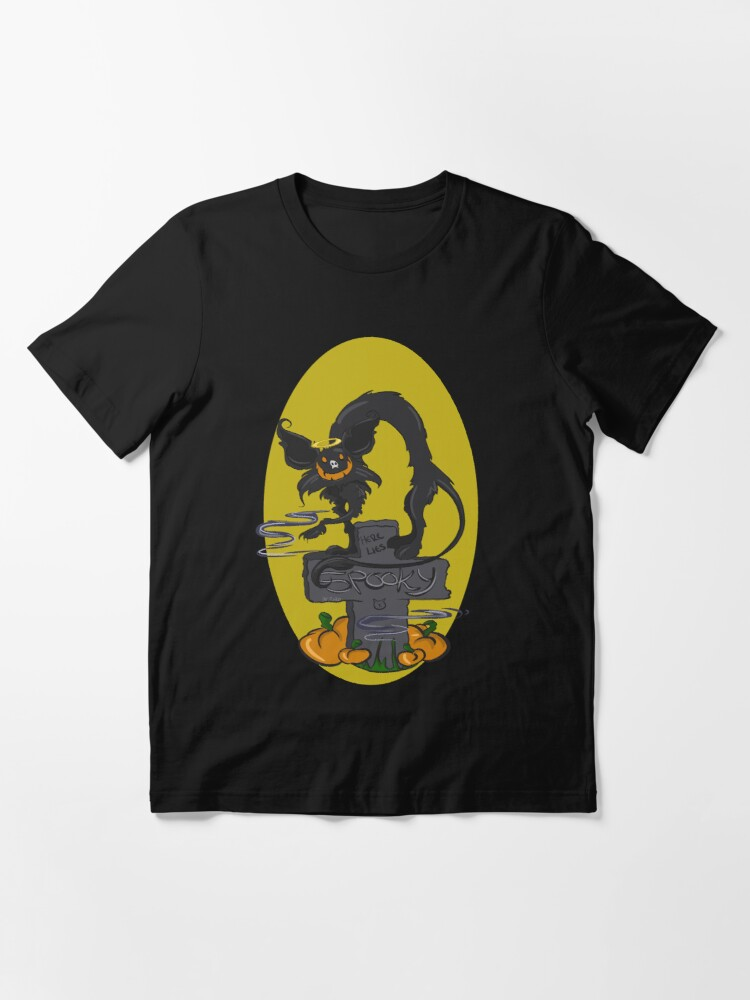 Alternate view of Spooky the Halloween Cat Essential T-Shirt