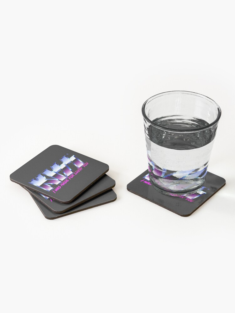 Alternate view of KISS - I was made for lovin'you - Chrome Coasters (Set of 4)