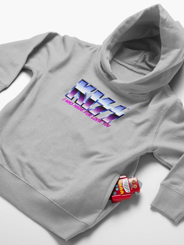 Alternate view of KISS - I was made for lovin'you - Chrome Toddler Pullover Hoodie