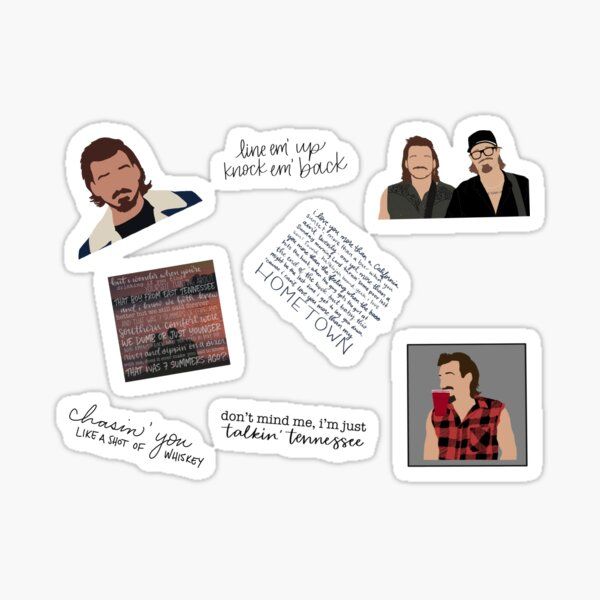 Morgan Wallen Sticker Pack Sticker
