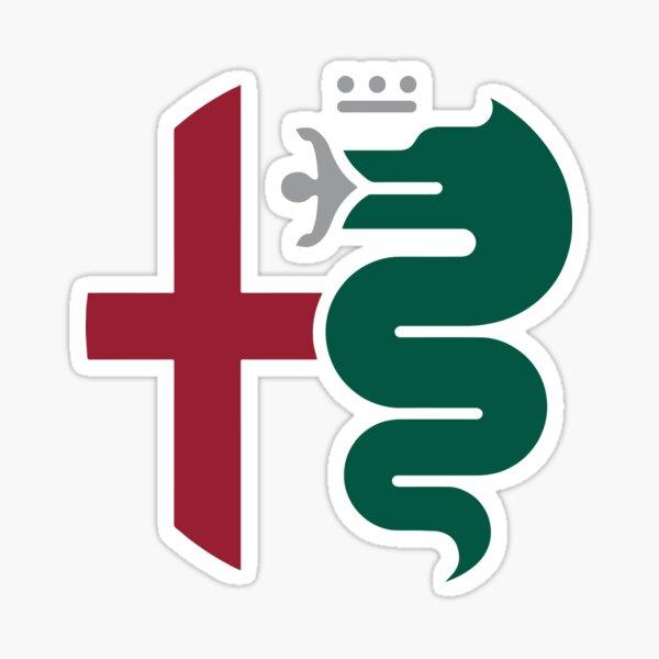 Emblema de Alfa Romeo Pegatina