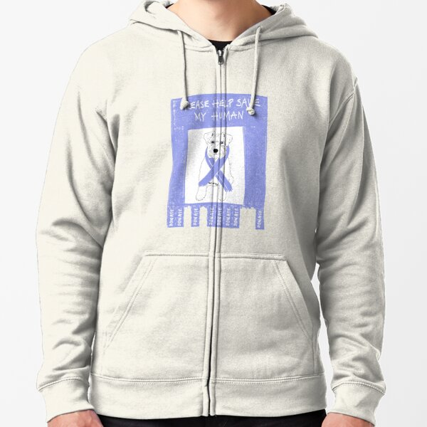 Cancer Treatment Fundraiser Zipped Hoodie