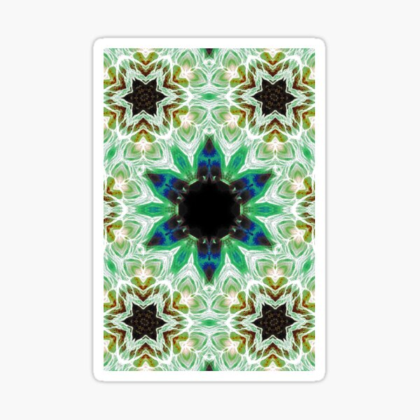 Kaleidoscopic Pattern 8 Sticker