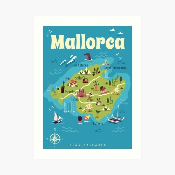 Mallorca Plakat Kunstdruck