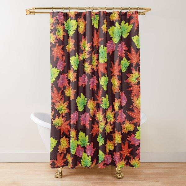 Fall Splendor in Brown Shower Curtain