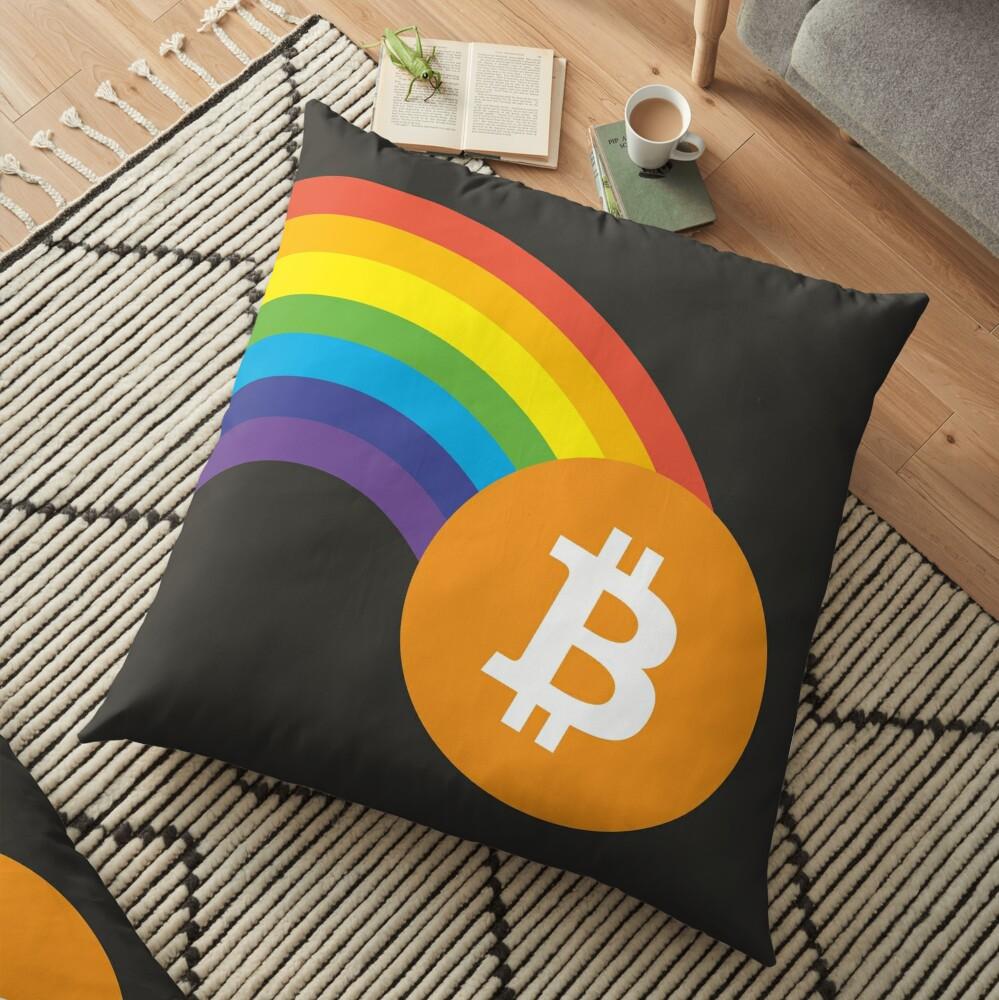 Bitcoin Pot  Floor Pillow