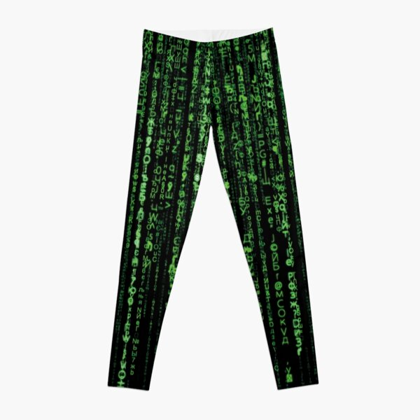 Matrix Green Code secret Password Leggings