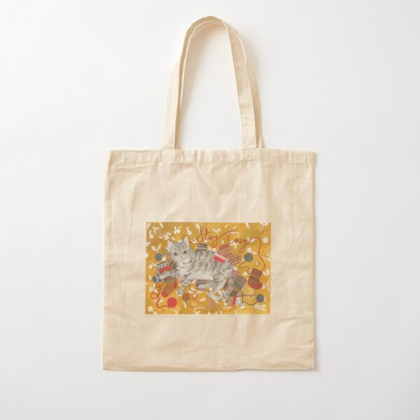 Stay Cozy - Cat Holiday Card Cotton Tote Bag