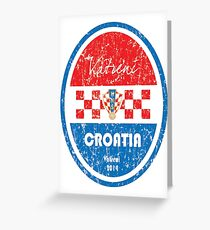 World Cup Football - Croatia Greeting Card