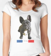 BEAUTIFUL FRENCH BULLDOG Women's Fitted Scoop T-Shirt