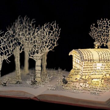 Danny Champion of the World, Roald Dahl book sculpture by daysfall