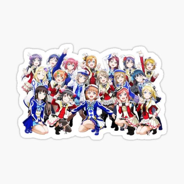 love live!! school idol festival!! all stars! muse & aqours group render Sticker