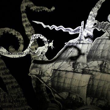The Kraken book sculpture by daysfall