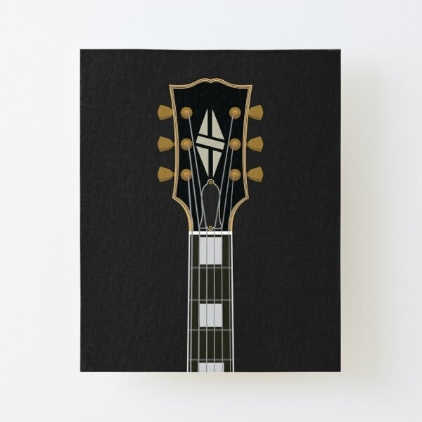 LP Custom Guitar Canvas Mounted Print
