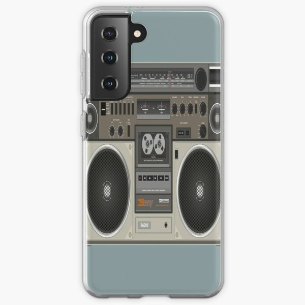 Tape Cassette Recorder Audio System Samsung Galaxy Soft Case