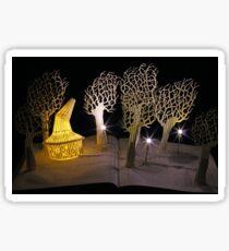 Witches Magic Garden book sculpture Sticker