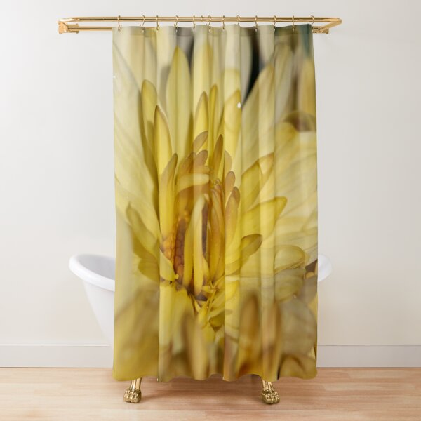 Morning Yellow Mum Shower Curtain