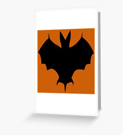 Silhouette Of a Bat Greeting Card