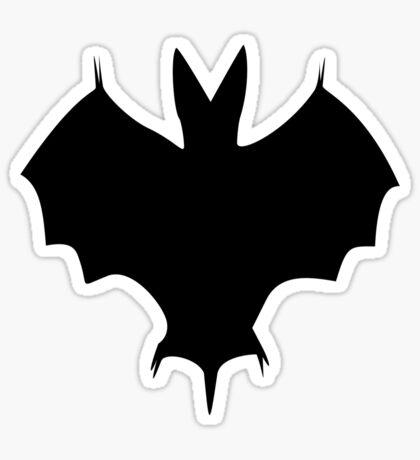 Silhouette Of a Bat Sticker