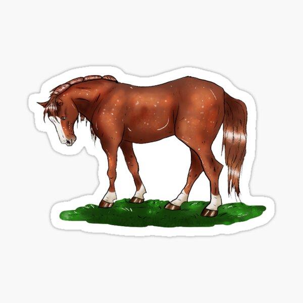 Mystery horsey - alezan horse Sticker