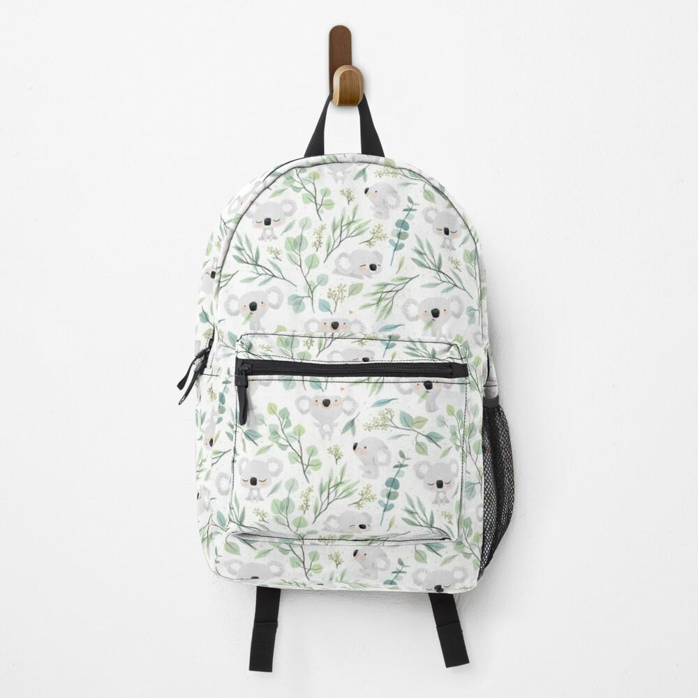Koala and Eucalyptus Pattern Backpack