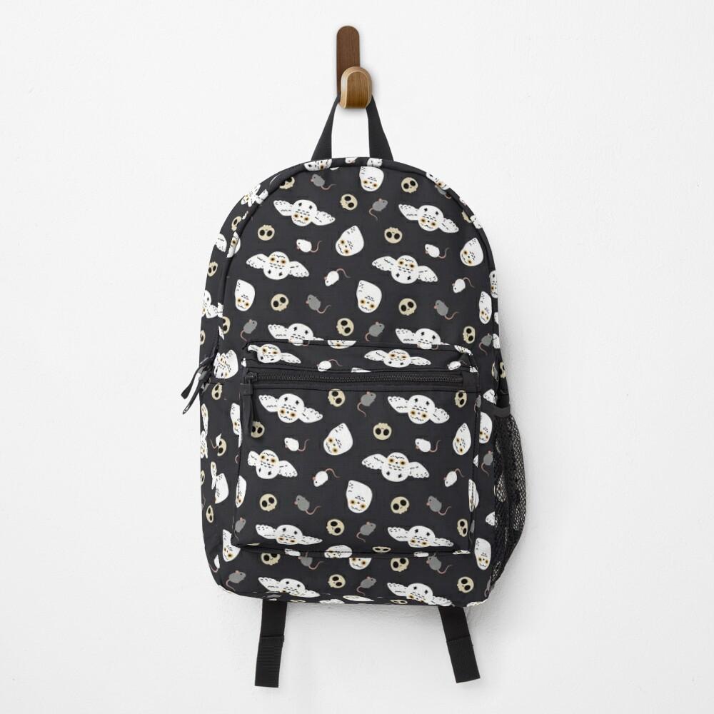 Halloween Snowy Owl Pattern  Backpack
