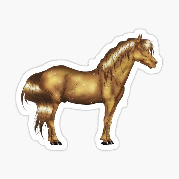 Golden horse Sticker