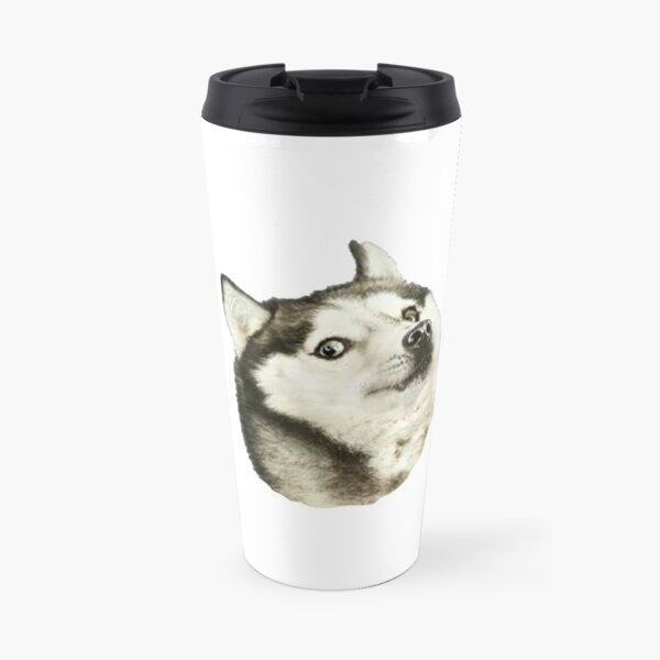 Husky Doge Travel Mug
