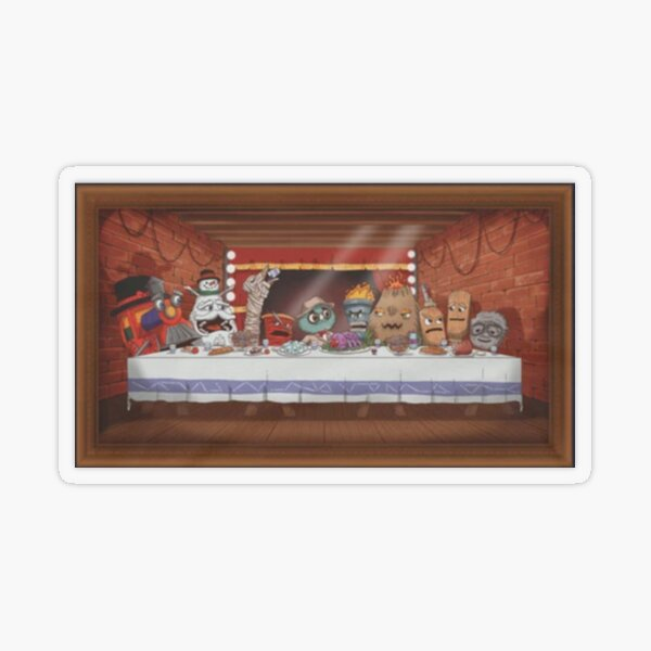 The Last Supper- puppet history Transparent Sticker