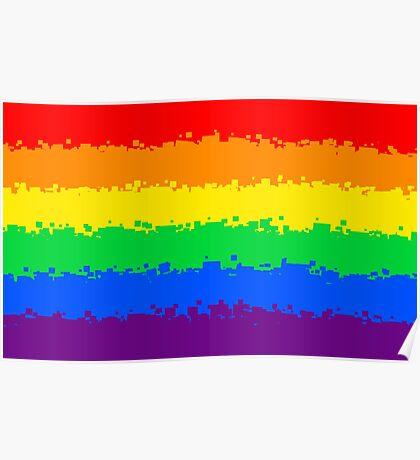 Gay Pride Flag- Retro Poster