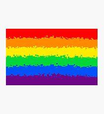 Gay Pride Flag- Retro Photographic Print