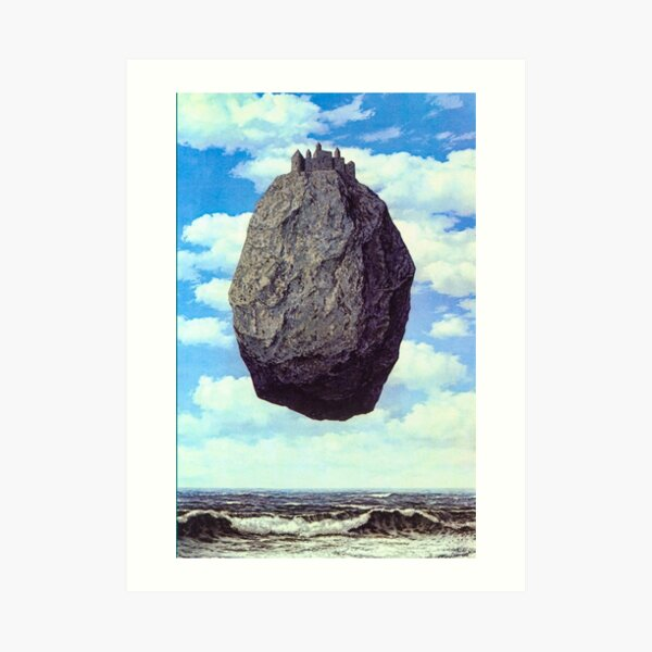 Castle of the Pyrenees by René Magritte Art Print