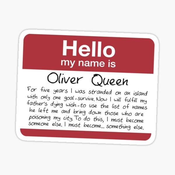 Nombre de Oliver Pegatina